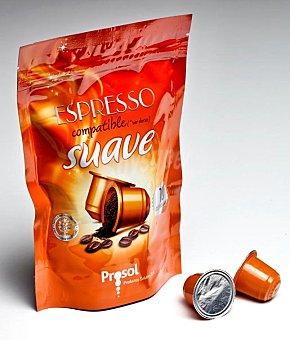 PROSOL Cafe capsula (compatible con cafetera sistema nespresso) suave Paquete 10 u