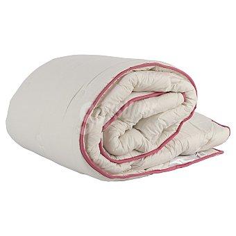 AUCHAN Relleno nórdico acrílico, exterior de percal, 90 centímetros, color blanco, densidad: 400 gramos 1 Unidad