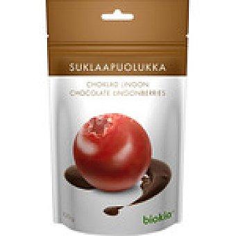 BIOKIA arándanos rojos cubiertos de chocolate envase 100 g