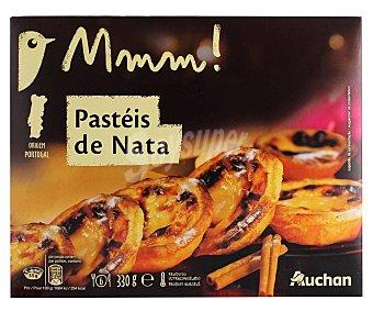 Mmm Auchan Pasteles de nata, tipo pastel de Belén 330 g
