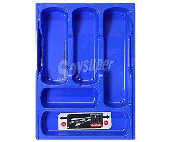 Curver Bandeja extensible color azul para cubiernos, 30x42x6.4 centímetros 1 Unidad