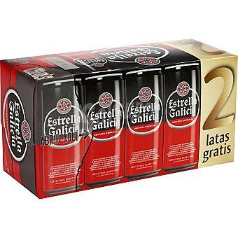 Estrella Galicia Cerveza rubia especial pack 8 latas 33 cl + 2 gratis Pack 8 latas 33 cl