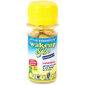 WAKE UP & GO Chicles energéticos contra la fatiga y el sueño 12 unidades Bote 45 g
