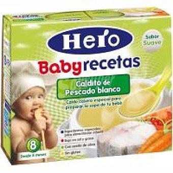 Hero Caldo de pollo con verduritas Pack 2x250 ml