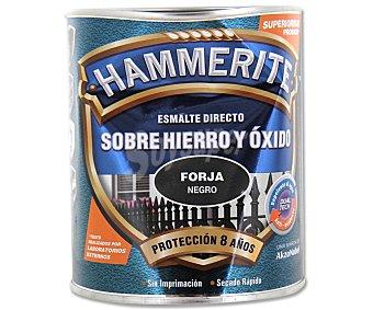 HAMMERITE Esmálte metálico para uso exterior antióxido y de color negro forja 0,75 litros