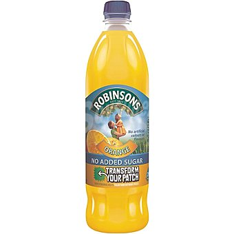 ROBINSONS Refresco concentrado naranja sin azucar Botella 1 l