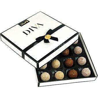 Lindt Bombones Diva de chocolate con leche con relleno de trufa caja 182 g 16 unidades