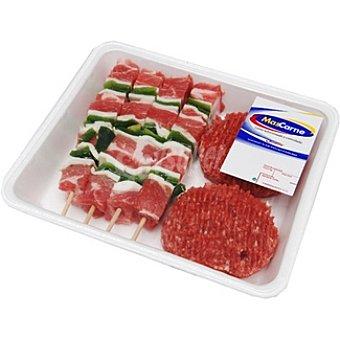 MASCARNE Surtido para barbacoa con hamburguesas de ternera y brochetas de cerdo Bandeja 900 g