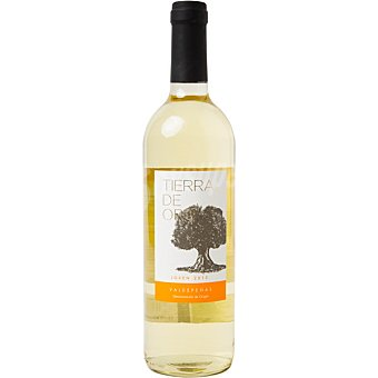 Tierra de oro vino blanco joven D.O. Valdepeñas elaborado para grupo El Corte Inglés  botella 75 cl