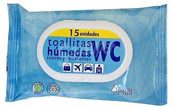 Bosque Verde Papel higienico humedo Paquete 15 u