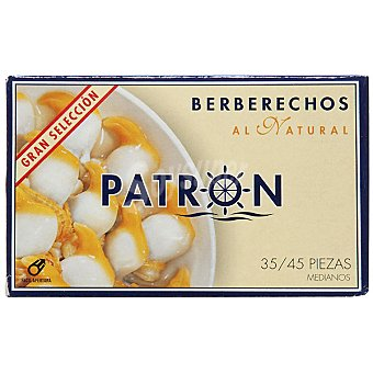 PATRON GRAN SELECCION Berberechos al natural 35-45 piezas Lata 63 g neto escurrido