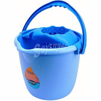 Eroski Cubo + escurridor azul 14 litros Pack 1 unid