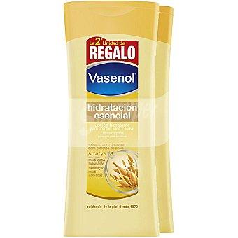 VASENOL Hidratación Esencial Loción corporal hidratante con extracto puro de avena Pack 2 frasco 400 ml