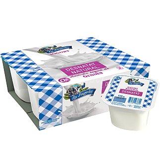 La Fageda Yogur desnatado 0% materia grasa natural Pack 4 u x 125 g