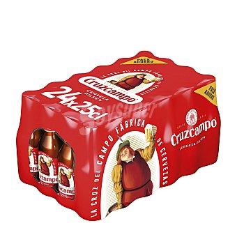 Cruzcampo Cerveza rubia nacional Pack 24 latas x 25 cl