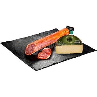 Esenciaunica Covap lomo de cebo de campo ibérico 50% raza ibérica pieza + una pieza de queso curado viejo 1,4 kg aprox 600 g