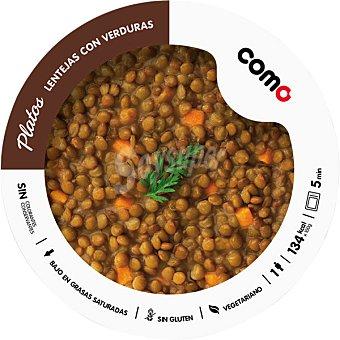 COMO NATURAL lentejas con verduras 1 ración bandeja 300 g