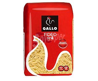 Gallo Fideos nº 4, pasta de sémola de trigo duro de calidad superior 500g