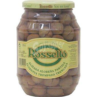 Rossello Aceituna Malagueña aliñada Frasco 550 g neto escurrido