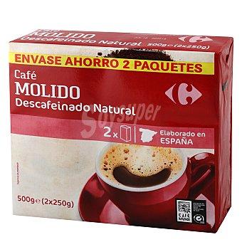 Carrefour Café molido natural descafeinado Pack de 2x250 g