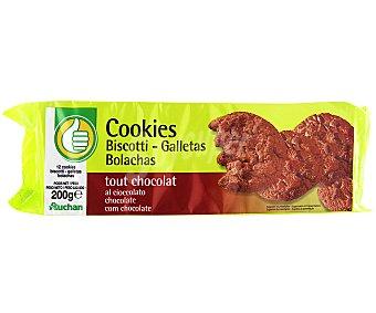 Productos Económicos Alcampo Cookies de chocolate 200 gramos