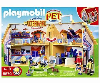 Playmobil Playset Clínica Veterinaria en Maletín, Modelo 5870 1 Unidad