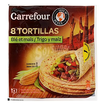 Carrefour Tortillas de trigo y maiz 320 g