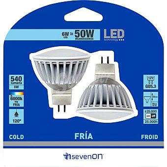 SEVENON Lámpara LED blanco frío GU5.3 (50 W)  1 Unidad