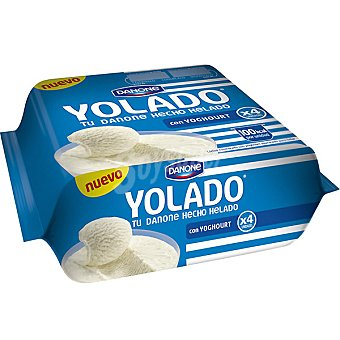 Yolado Danone tu Danone hecho helado con yogur natural Pack 4 unidades 78,25 g