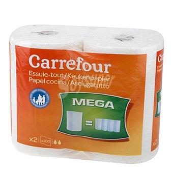 Carrefour Papel de cocina Mega 2 ud