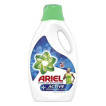 Ariel Active Odor Defense detergente máquina líquido Botella 40 dosis