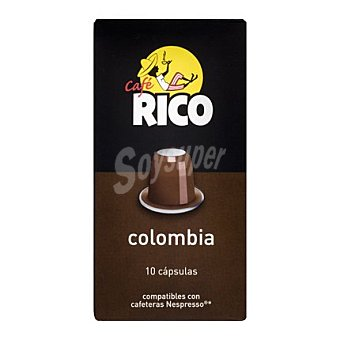 Rico Café Colombia en monodosis 10 cápsulas
