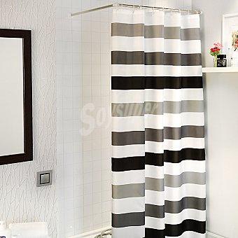 CASACTUAL Marta cortina de baño estampada en tonos grises