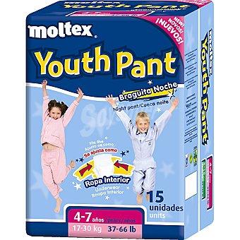 Moltex Braguita Youth Pant de noche 4-7 años 17-30 kg 17-30 kg 15 unidades