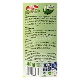 Disiclin Limpiador desengrasante de cocinas 1,2 l