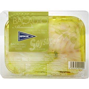 Hipercor Bacalao ahumado en aceite de oliva Bandeja 80 g