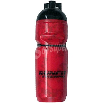 Runfit Bidón térmico en color rojo para ciclistas con soporte 1 unidad