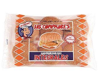 Panadería Los Compadres Pan para hamburguesas integral con sésamo Bolsa 6 u (320 g)