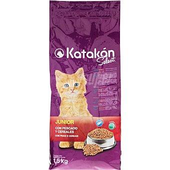 KATAKÁN Alimento para gatos Select Junior con pescado y cereales  Bolsa 1,5 kg