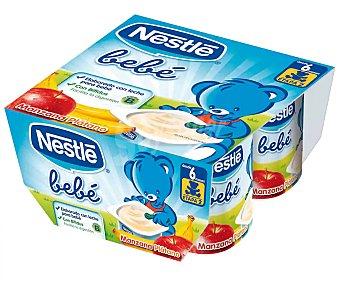 Nestlé Yogur multifrutas Bebé sin gluten Pack de 4 unidades de 100 g