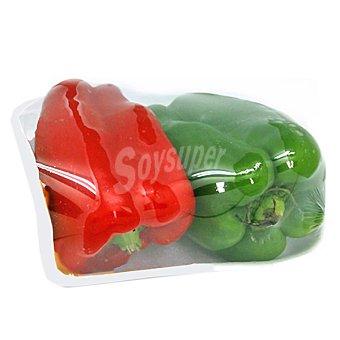 Pimiento bicolor rojo y verde peso aproximado Bandeja 600 g