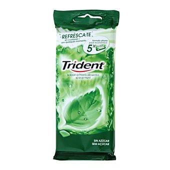 Trident Chicles sabor hierbabuena Pack de 5 paquetes