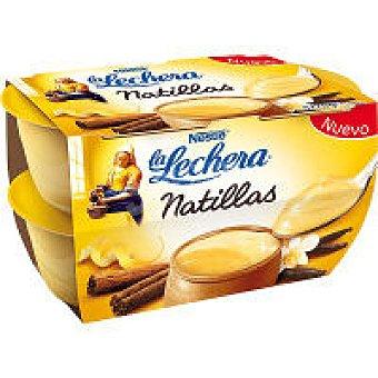 La Lechera Nestlé Natillas vainilla Pack 4x70 g