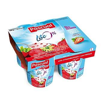 Pascual Yogur desnatado pasteurizado con fresa Pack 4x125 g