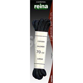 Reina Cordones de sport negros redondos 70 cm