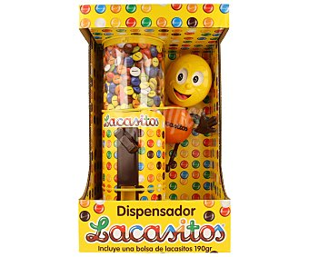 Lacasitos Lacasa Dispensador de lacasitos con una bolsa de grageas de colores y chocolate (190 gramos) 1 unidad