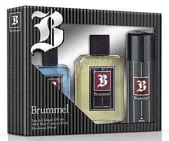 Brummel Estuche para hombre con colonia 250 mililitros, after shave 125 mililitros más desodorante 200 mililitros 1u
