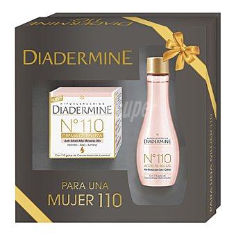 Diadermine Pack crema anti-edad nº 110 día 50 ml. + aceite de belleza cara y cuerpo 100 ml. 1 ud
