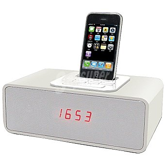 ANSONIC RD-12IP/WHITE base para Ipod y iphone con radio reloj despertador