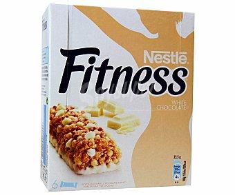 Fitness Nestlé Barritas de cereales con chocolate blanco 6 unidades de 23,5 gramos
